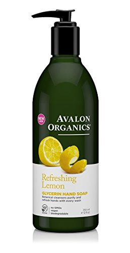 Avalon Organics Glycerin Hand Soap, Lemon, 12 Ounce (Pack of 3)