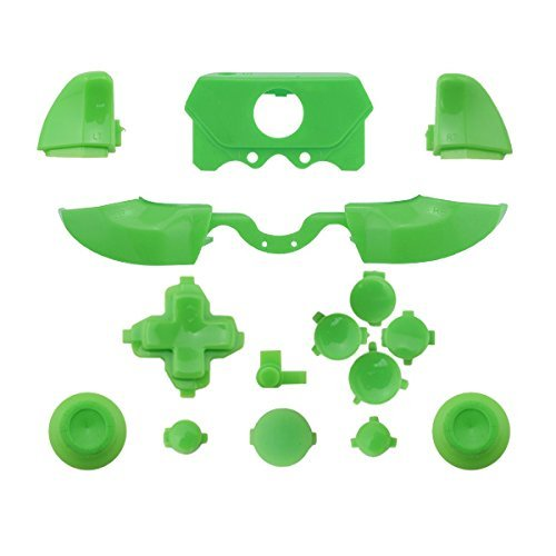 Matte ABXY Dpad Triggers Full Buttons Set Mod Kits for XBox One Elite Controller (Green)