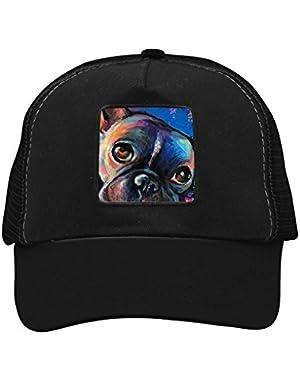 Unisex Dog Puppy Bulldog Adjustable Classic Hiphop Hat Baseball Cap Snapback Dad Hat