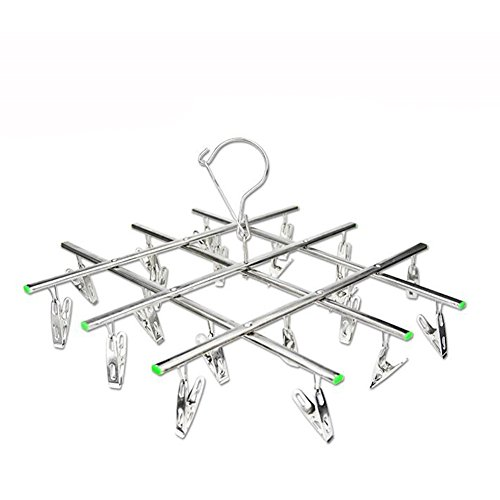 20 Clips Drying Rack, Homeself Stainless Steel Foldable Pegs