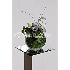 Artificial Real Touch Green Tulip & Anemone Fishbowl Display 6