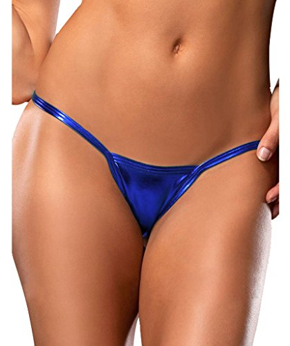 Plumsika Women's G Strings Sexy Exotic Micro Shiny G String Thongs