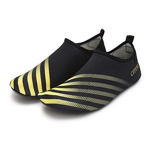 Yellow Adult Aqua Swim Shoes Barefoot Sports Chiximaxu Black Run Yoga Socks for With 7q4RBWWnx