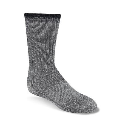 Wigwam Kid's Merino Wool Comfort Hiker Socks Charcoal Sock YS (5-6) / Shoe 4-7T - Kid Merino Yarn