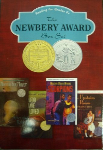 The NEWBERY AWARD box set. Reading for Grades 8+. Is a title for four books set: The Upsters Room by J. Reiss; Scorpions by W.D. Myers; Jacob Have I Love by K. Paterson; After the Rain by N.F. Mazer.