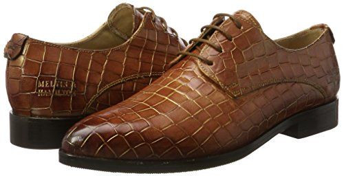 Croco SHOES Braun Woody MADE HAND CLASS Finish Damen MELVIN OF 5 Jessy Gold HAMILTON Hrs amp; MH Derbys Xw6IIOq7