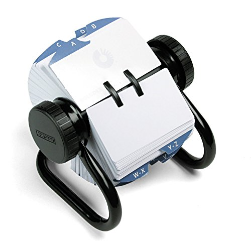 Rolodex 66704 Open Rotary Card File Holds 500 2-1/4 x 4 Cards Black
