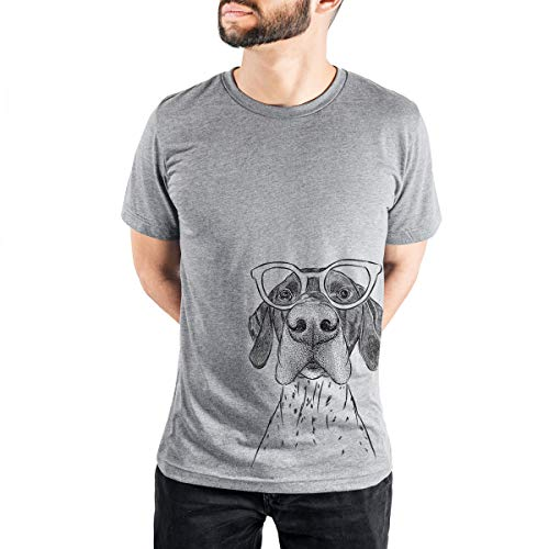 Aviator Booze The German Shorthaired Pointer Men's/Women's Triblend T-Shirt Unisex Crewneck Large Grey
