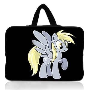 Brinchs Handmadecraft Cute Cartoon 11 11.6 Inch Laptop Handbag with Derpy Hooves Waterproof Canvas Fabric Laptop / Notebook / MacBook / Ultrabook Computers(Twin Sides)