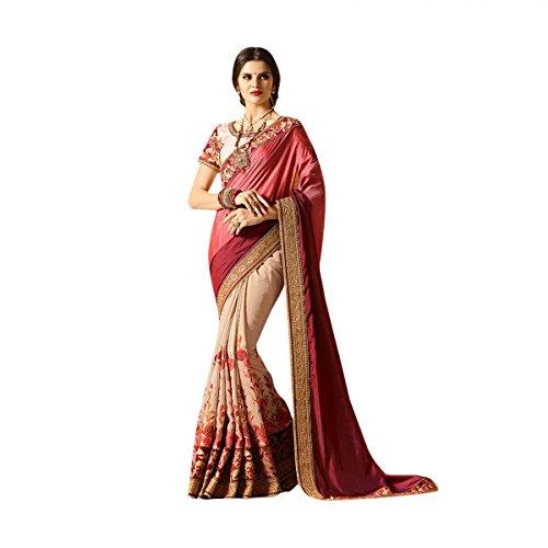 sposa tradizionale Seta abito donna Saree 526 indiano Matrimonio etnico da wqXB88