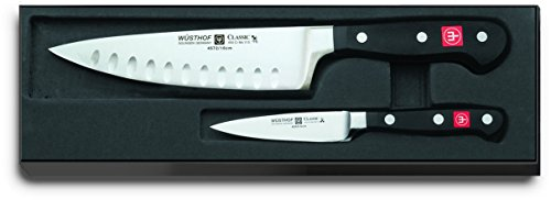 Wusthof Classic 2-piece Set with 6-inch Hollow Edge Chef's Knife and 3.5-inch Paring Knife