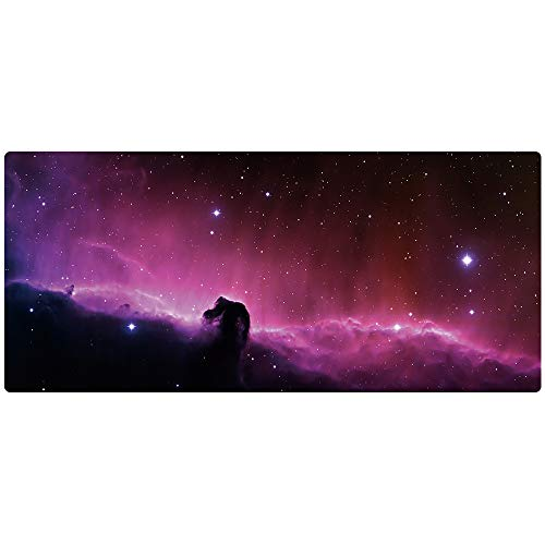 """AliBli Large Gaming Mouse Pad XXL Extended Mat Desk Pad Mousepad Long Non-Slip Rubber Mice Pads Stitched Edges 35.4/""""x15.7/"""" 014qicaiyun"""