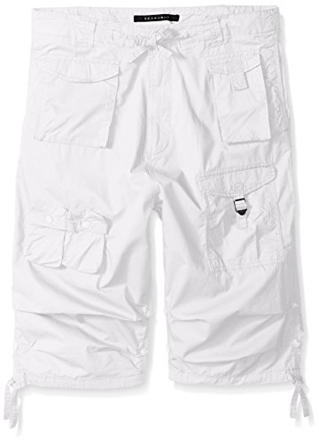 Sean John Men's Tall Size Classic Flight Short, Bright White, 38T (Sean John Jeans)