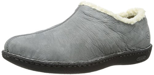 Keen Galena piel zapatos ocio Slip On Zapatos Grey - Gargoyle