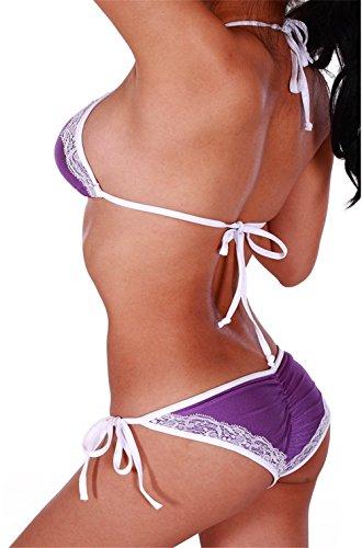 Aidonger - Mujer bikini brasileño Morado