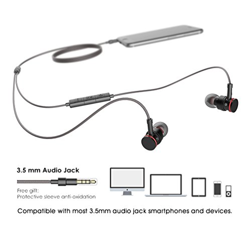 Earphones with Microphone Stereo Headphones Earbuds with Mic and Volume Control for iPhone Samsung and More Android Smartphones,3.9 Ft/Black - Image 4