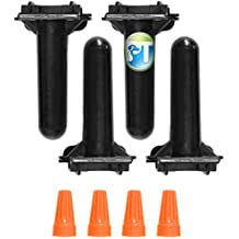 4 Pack PetsTEK Waterproof Wire Splice Kit for Wire Break Repair in Electric In-Ground Dog Fence Systems