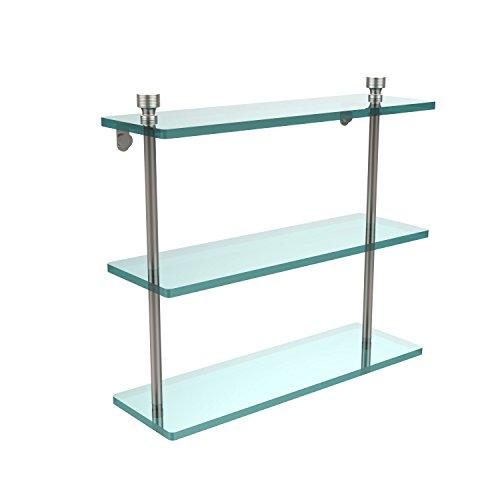 Allied Triple Glass Shelf Brass - Allied Brass FT-5/16-SN Triple Glass Shelf 16