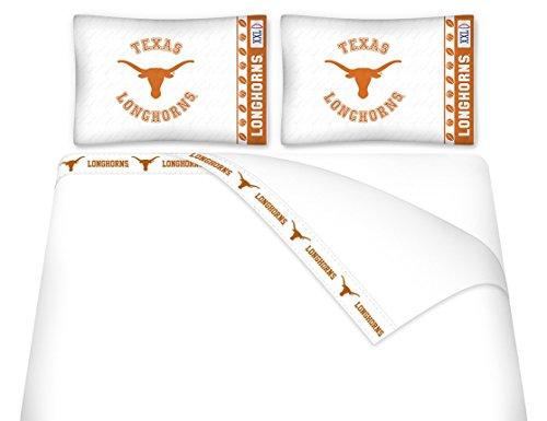 University of Texas Microfiber Sheet Set (Queen) (Sheet Set University)