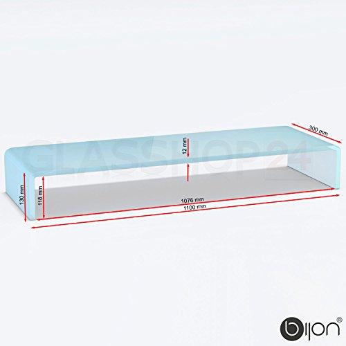 bijon® TV-Glasaufsatz Monitor Erhöhung (B/T/H) 1100x300x130mm - weiß