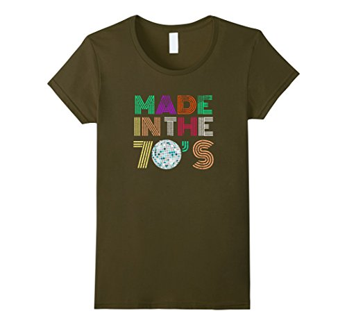 Womens Made In The 70s Seventies Retro Distressed T-shirt Small (70s Inspired Costumes)