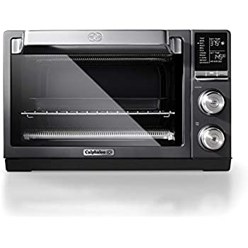Calphalon TSCLTRDG1 Quartz Heat Countertop Toaster Oven, Stainless Steel, Extra-Large Capacity, Black, Dark Gray