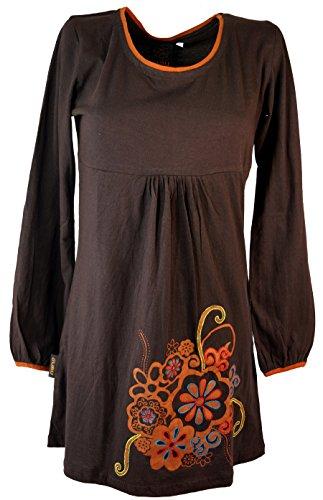 Colgante hippie Chic Coffee/vestido vestidos de corto marrón
