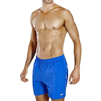 "Speedo Solid Leisure 16"" Men's Swim Shorts, Beautiful Blue"