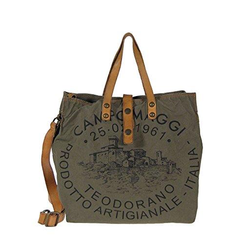 tote Campomaggi 33 Naturale borsa cm Campomaggi cm Naturale tote borsa Militare Militare 33 88Fw6aq