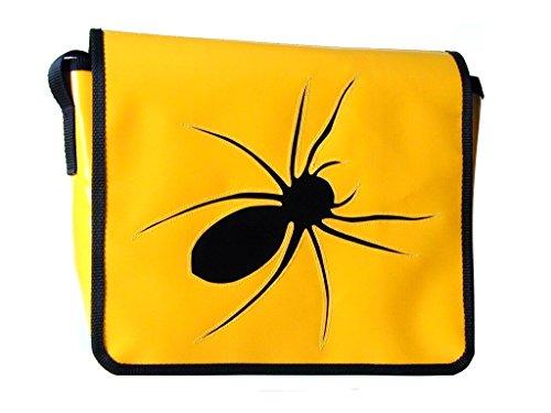 Goellerbags Schultertasche Tiermotiv Schwarz Spinne H 23, B 30, T 10