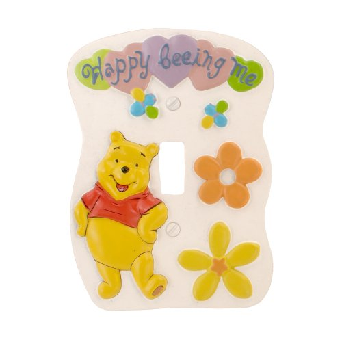 (AmerTac 1932T Disney Pooh Happy Being Me 3D Single Light Toggle Wallplate)