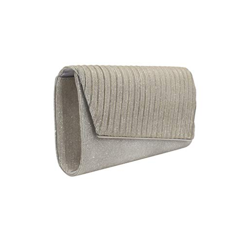 DDKK bags Evening Bags Purse Envelop Clutch for Women-Ladies Party Prom Wristlet Handbag Foldover Pouch with Pure Color
