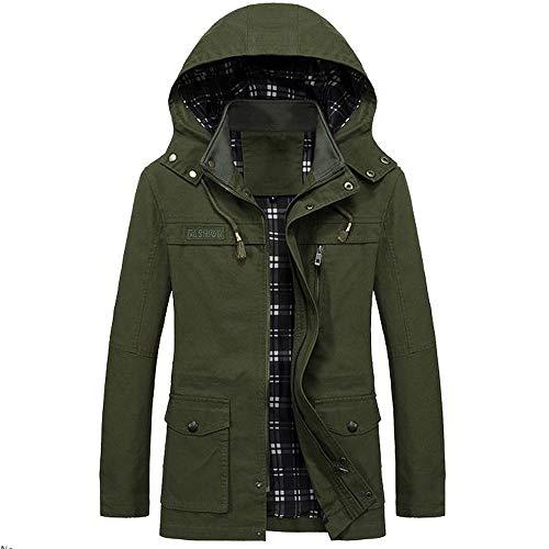 B Poches Soldes Homme Hiver Jackets Parka Trench Veste vert Capuche Long Noire Casual Outwear Coat overdose À TqnwwZzA