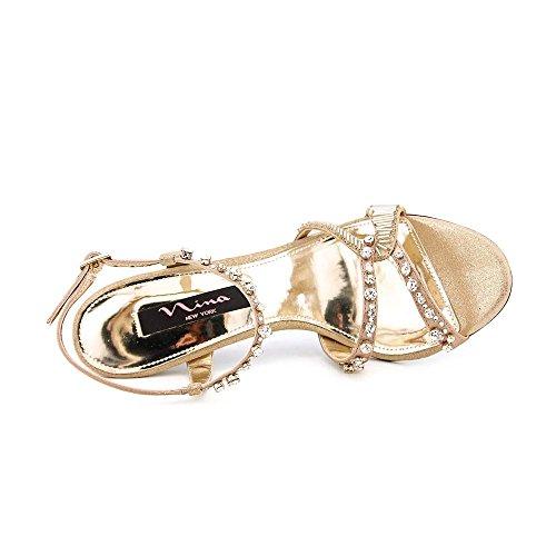 Nina Chimere Donna Oro Scarpe Sandali Taglia Display EU 39,5