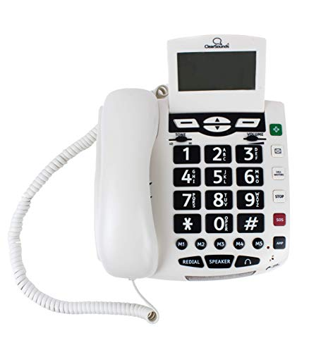 (ClearSounds CSC600 UltraClear Amplified Corded Phone with Medical Emergency Buttons - Single-Line Operation, AC Powered)