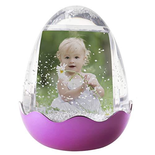 Easter Egg Photo Snow Globe (Pink)