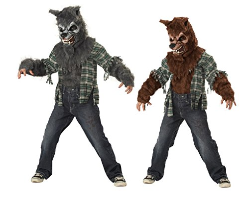 Howling At The Moon Werewolf Child Costume (Brown, (Howling At The Moon Costume)