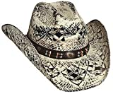 Bullhide Montecarlo Girl Next Door Painted Toyo Straw Western Hat Medium