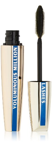 L'Oreal Paris Voluminous Million Lashes Waterproof Mascara, Blackest Black, 0.32 Ounces
