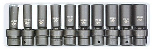 Sunex 3660 3/8-Inch Drive Deep Metric Universal Socket Impact Set, 10-Piece by Sunex Tools