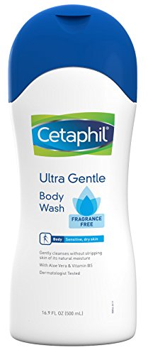 Cetaphil Ultra Gentle Body Wash, Fragrance Free, 16.9 Fl Oz (Pack of 3)