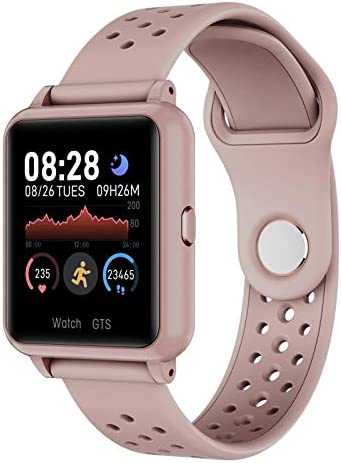 Cosbary Smart Watch for Men Women with Heart Rate Temperature Monitor Blood Pressure Blood Oxygen Monitor Sleep Tracker Fitness Watch Compatible with iPhone Samsung Android Phones (Pink)