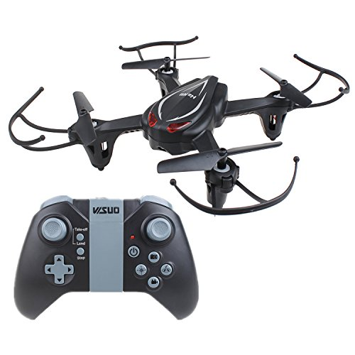HaMi RC Helicopter Drone,Remote Control Helicopter 2.4Ghz 4CH 6-Axis Gyro Headless Quadcopter Drone with Altitude Hold – Black