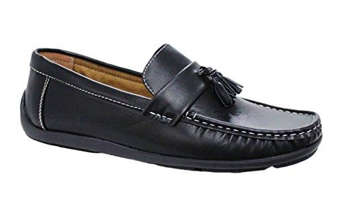 Mocassini uomo nero casual man's shoes scarpe estive top quality (42)