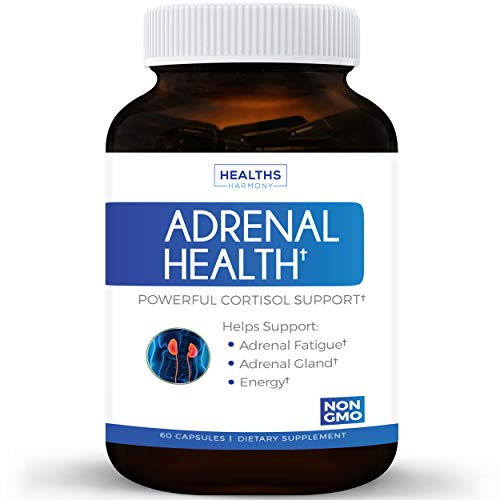 Best Adrenal Support & Cortisol Manager (NON-GMO) Powerful Adrenal Health with L-Tyrosine & Ashwagandha - Maintain Balanced Cortisol Levels & Stress Relief - Fatigue Supplement - 60 (L-tyrosine Complex 100 Capsules)