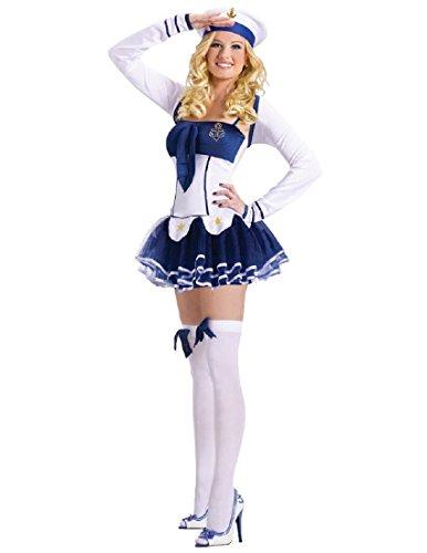 FunWorld Women's High Seas Hottie Adult Costume, Blue/White,