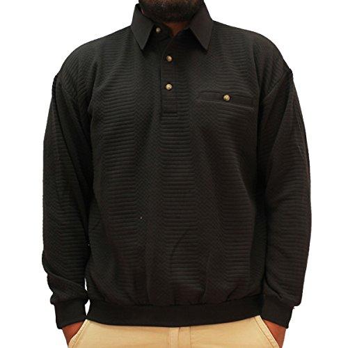 Palmland L/S Solid Textured Banded Bottom Shirt (Medium, ...