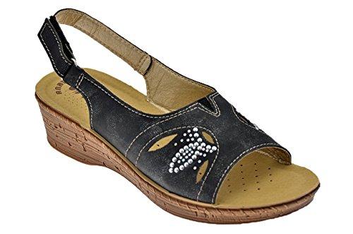 Noir Chaussures Sandales Blu Femme 2648 In Neuf xIpUwY6q