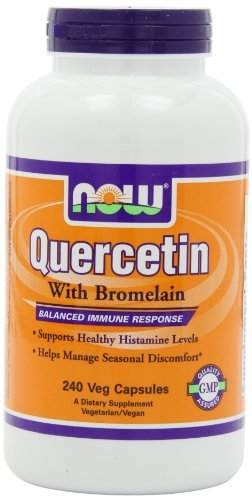 Now Foods Quercetin with Bromelain, Veg-Capsules, 240-Count (Pack of 3) by Now Foods