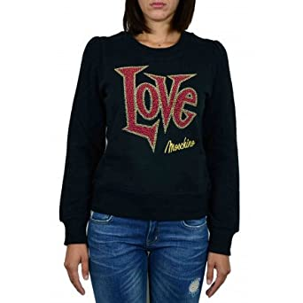 NoirVêtements Love Shirt Sweat Moschino Femme Noir 1KlFJc3T